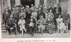 Assemblée générale Mondorf les bains 29 juin 1934