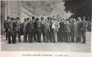 Assemblée générale Echternach 15 juillet 1923