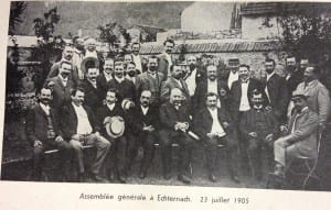 Assemblée générale Echternach 23 juillet 1905